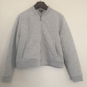 GAP full zip quilted sweatshirt. Size Large